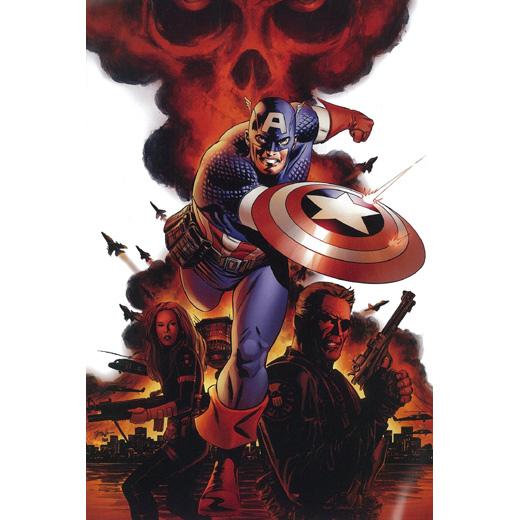 炎の中のキャプテンアメリカ