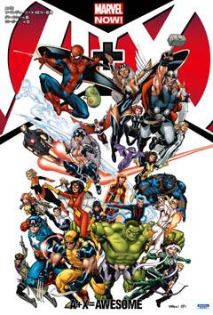 アベンジャーズとX-MENの人気メンバーが共演するオールスター・コミック!